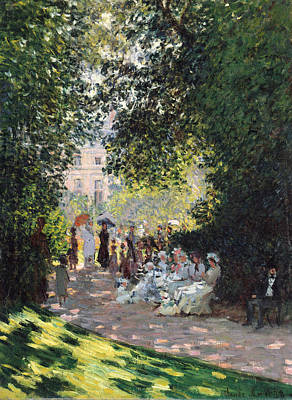 The Parc Monceau Print by Claude Monet