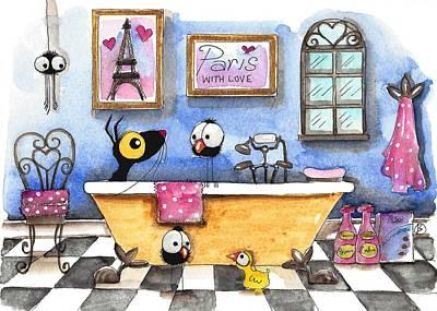 Painting - The Parisian Bath by Lucia Stewart