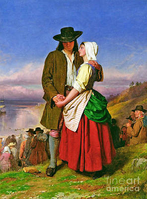 Evangeline Painting - The Parting Of Evangeline And Gabriel by MotionAge Designs