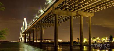 A Great Passageway Arthur Ravenel Jr Bridge Charleston South Carolina Print by Reid Callaway