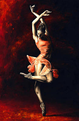 Long Hair Painting - The Passion Of Dance by Richard Young