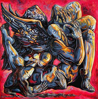 Contemporary Surrealism Drawing - The Passion Of The Fallen by Darwin Leon