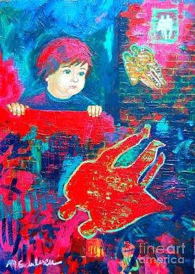The Past Is Pink  The Present Is Blue  Future I Don T Know Print by Ana Maria Edulescu