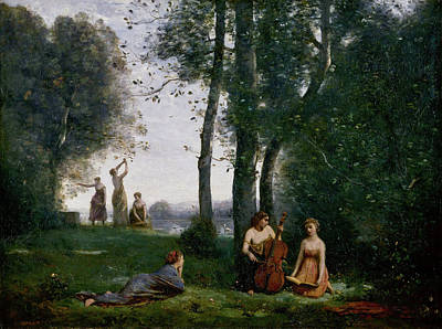Cello Painting - The Pastoral Concert by Camille Corot