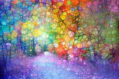 Pathway Digital Art - The Path Of Past Birthdays by Tara Turner