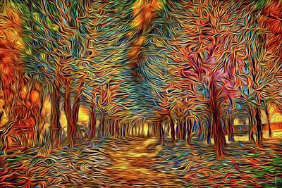 Vivid Colors Photograph - The Path Of The Magical Forest by Daniel Arrhakis
