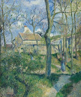 The Path To Les Pouilleux Pontoise Print by Camille Pissarro