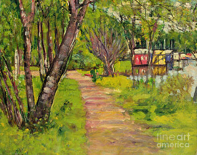 Scottish Colourist Painting - The Pathway Loch Lomond by George Leslie Hunter