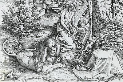 The Penitence Of Saint Jerome Print by Lucas the elder Cranach