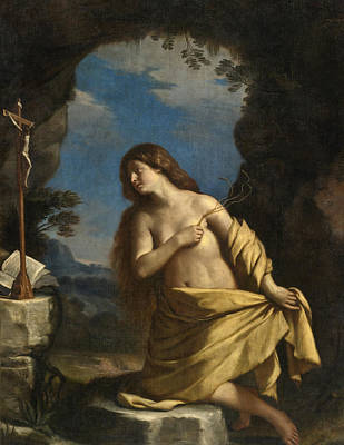 Guercino Painting - The Penitent Magdalene 2 by Guercino