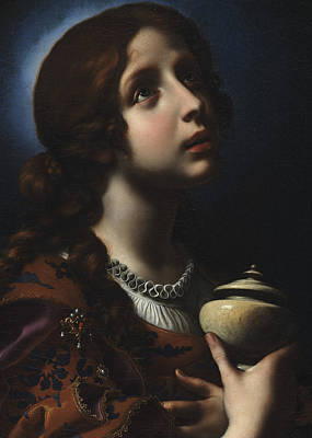 Character Portraits Painting - The Penitent Magdalene by Carlo Dolci