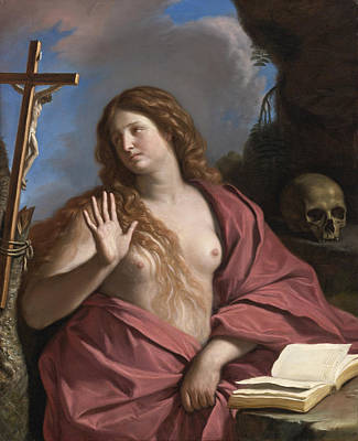 Guercino Painting - The Penitent Magdalene by Guercino