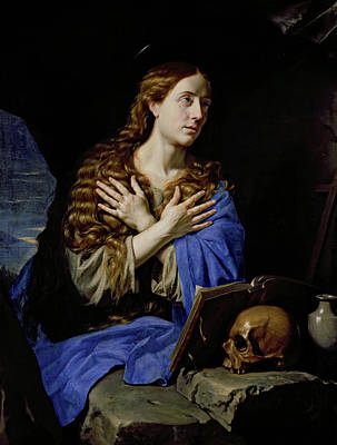 St Mary Magdalene Painting - The Penitent Magdalene by Philippe de Champaigne