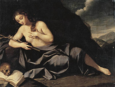 Painting - The Penitent Mary Magdalen by Lorenzo Pasinelli