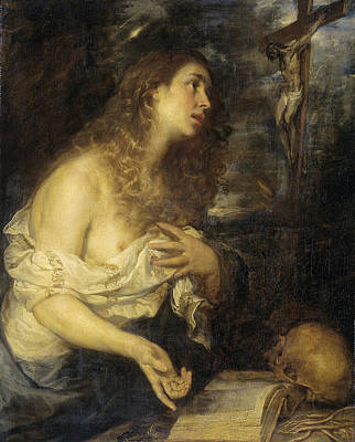 Mary Magdalene Painting - The Penitent Mary Magdalene by Mateo Cerezo