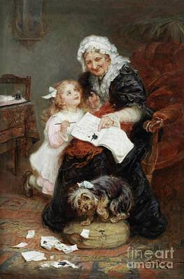 The Penitent Puppy Print by Frederick Morgan
