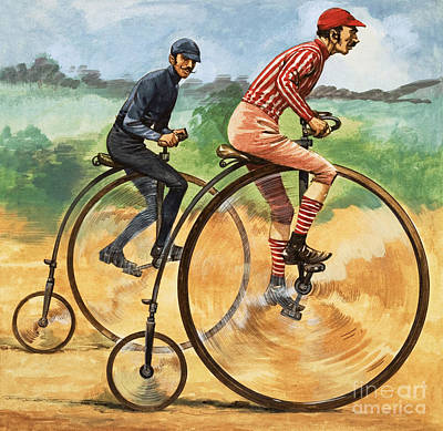 Spokes Painting - The Penny Farthing by Peter Jackson
