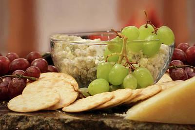 Grape Digital Art - The Perfect Snack by Lori Deiter