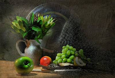 The Pewter Plate Print by Diana Angstadt