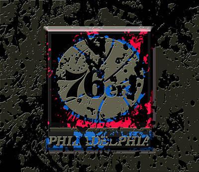 The Philadelphia 76ers 1b Print by Brian Reaves