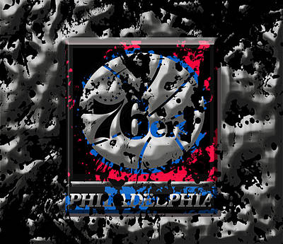 The Philadelphia 76ers Print by Brian Reaves