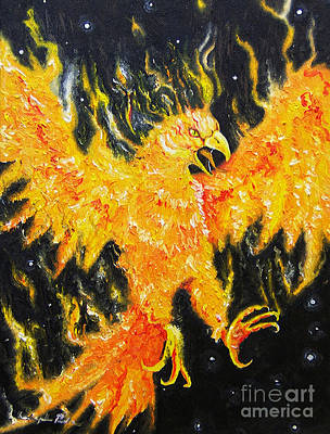 Painting - The Phoenix  by Joseph Palotas