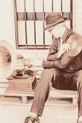 Classic Audio Player Photograph - The Phonograph In The Back Alley by Jorgo Photography - Wall Art Gallery