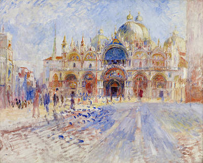 Piazza Drawing - The Piazza San Marco, Venice 1881 by Pierre Auguste Renoir