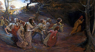 Eerie Painting - The Pied Piper Of Hamelin by Elizabeth Adela Stanhope Forbes