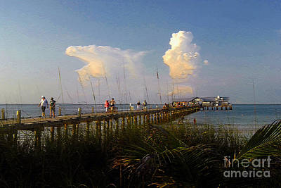 The Pier On Anna Maria Island Print by David Lee Thompson