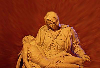 The Pieta At Ste Anne De Beaupre Print by Al Bourassa