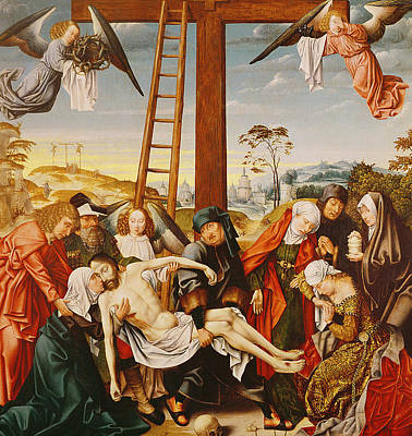 Crucifix Painting - The Pieta by Rogier van der Weyden