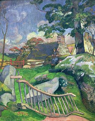 The Pig Keeper Print by Paul Gauguin