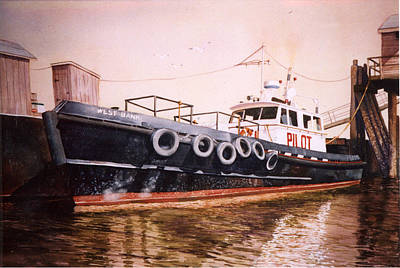 The Pilot Boat Print by Marguerite Chadwick-Juner