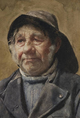 Aging Painting - The Pilot  by William John Wainwright