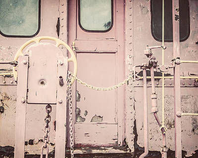 The Pink Caboose Print by Lisa Russo