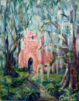 Painting - The Pink Chapel by Doralynn Lowe