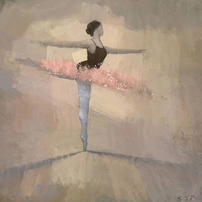 Figures Painting - The Pink Tutu by Steve Mitchell