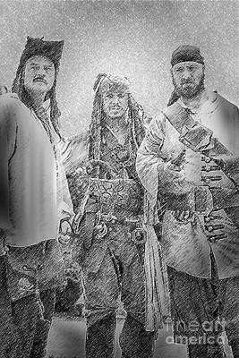 Pirates Drawing - The Pirates by David Millenheft