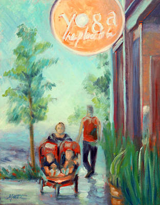 Stroller Painting - The Place To Be by Athena  Mantle