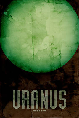 The Planet Uranus Print by Michael Tompsett