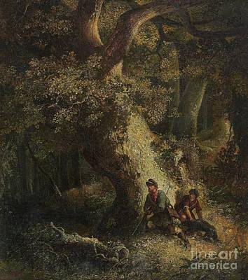 Poachers Painting - The Poachers by Celestial Images