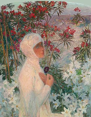 Henri Martin Painting - The Poetess Clemence Isaure by Henri Martin