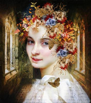 The Poets Lover Print by Georgiana Romanovna