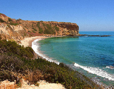 The Point At Abalone Cove Print by Timothy Bulone