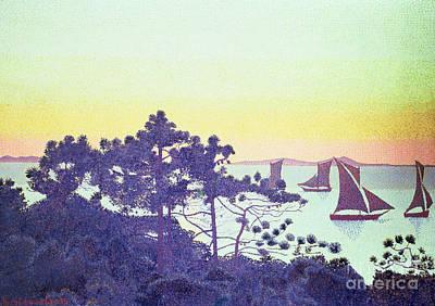 The Pointe De La Galere Print by Henri-Edmond Cross
