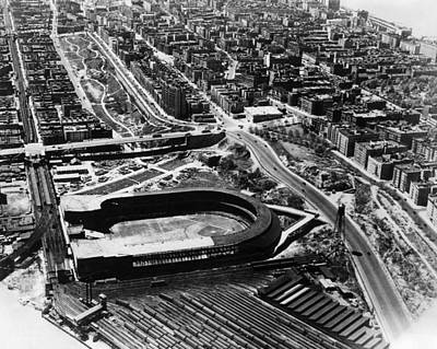 Ev-in Photograph - The Polo Grounds, New York October 3 by Everett