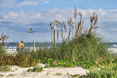 Osprey Painting - The Ponce Dune by Deborah Benoit
