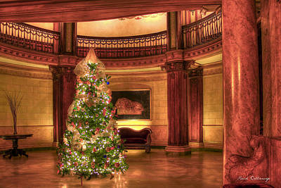 Caen Photograph - The Ponce Lobby Christmas Atlanta Georgia by Reid Callaway