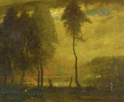 Painting - The Pond. Late Afternoon by Elliott Daingerfield